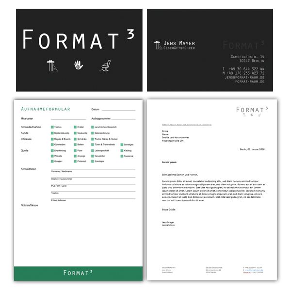 FORMAT³ - Projekte Katrin Barz Corporate Design